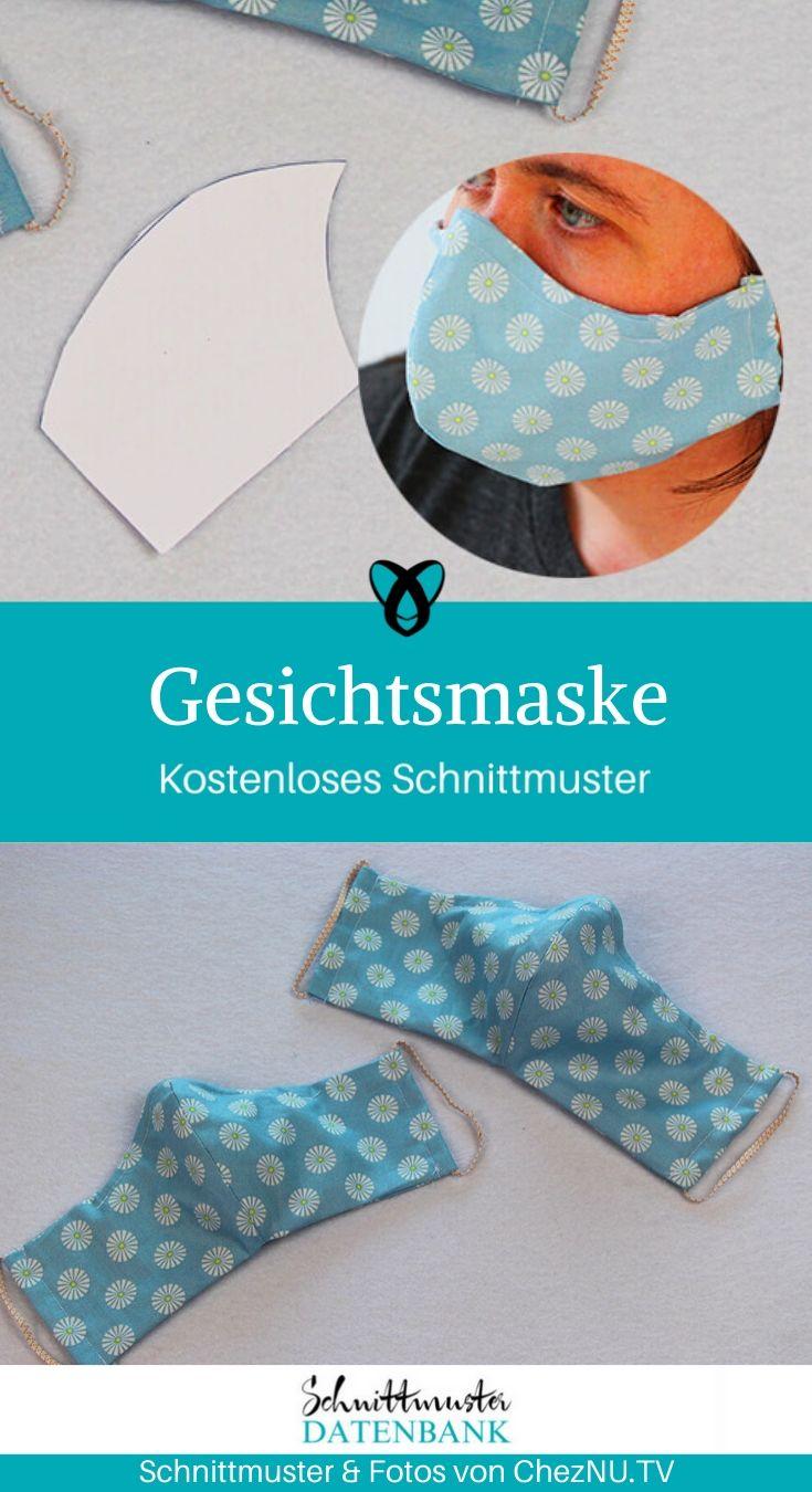 Gesichtsmaske, Mundmaske, Munde-Nasenschutz, Mundschutz, Corona, Corona Virus, COVID-19, Mund-Nasen-Maske, DIY Maske, Behelfsmaske, Schutzmaske, kostenlose Schnittmuster, Gratis-Nähanleitung