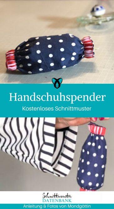 Handschuhspender Tasche für Latexhandschuhe Corona Schutz Covid kostenlose Schnittmuster Gratis-Nähanleitung