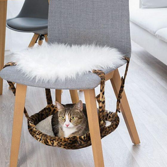 Katzenhängematte Nähen fürs Haustier für Katzen kostenlose Schnittmuster Gratis-Nähanleitung