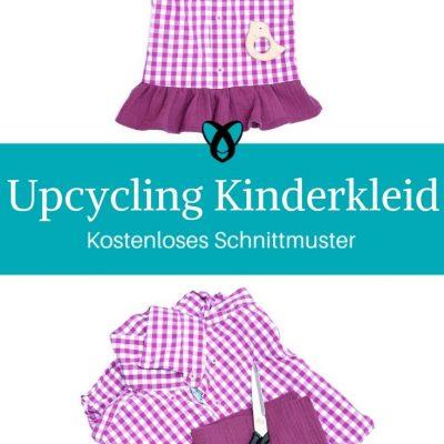 Kinderkleid aus Hemd Upycycling Sommerkleid für Mädchen kostenlose Schnittmuster Gratis-Nähanleitung
