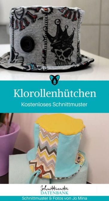 Klorollenhütchen Abdeckung Klorolle Nähen für Zuhause kostenlose Schnittmuster Gratis-Nähanleitung