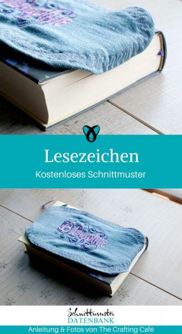 Lesezeichen Bücherzeichen kleine Geschenke nähen kostenlose Schnittmuster Gratis-Nähanleitung