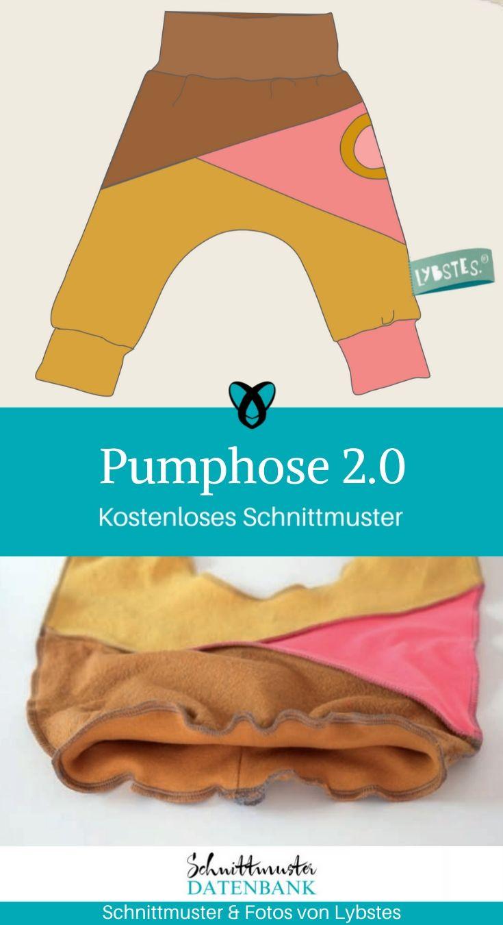Pumphose 2.0 Kinderhose Babyhose Jerseyhose weite Hose bequeme Hose nähen für Kinder Baby kostenlose Schnittmuster Gratis-Nähanleitung
