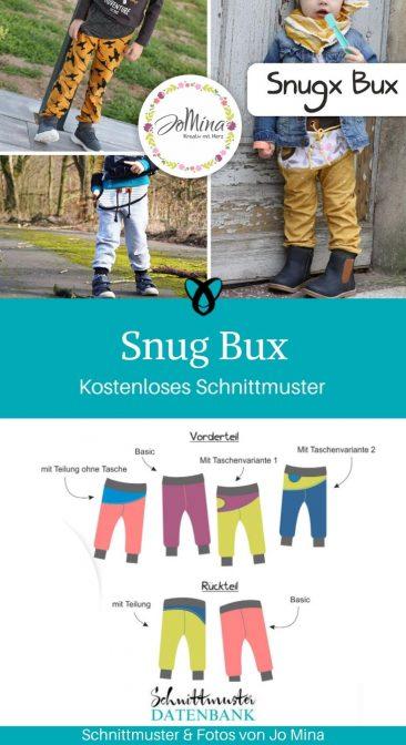 Snug Bux bequeme Kinderhose Jogginghose Kinder kostenlose Schnittmuster Gratis-Nähanleitung