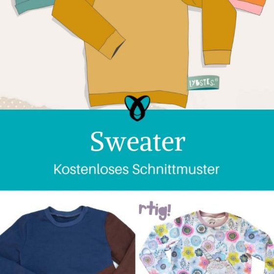Sweater Kinderpullover Oberteil Kinder Jerseyshirt kostenlose Schnittmuster Gratis-Nähanleitung