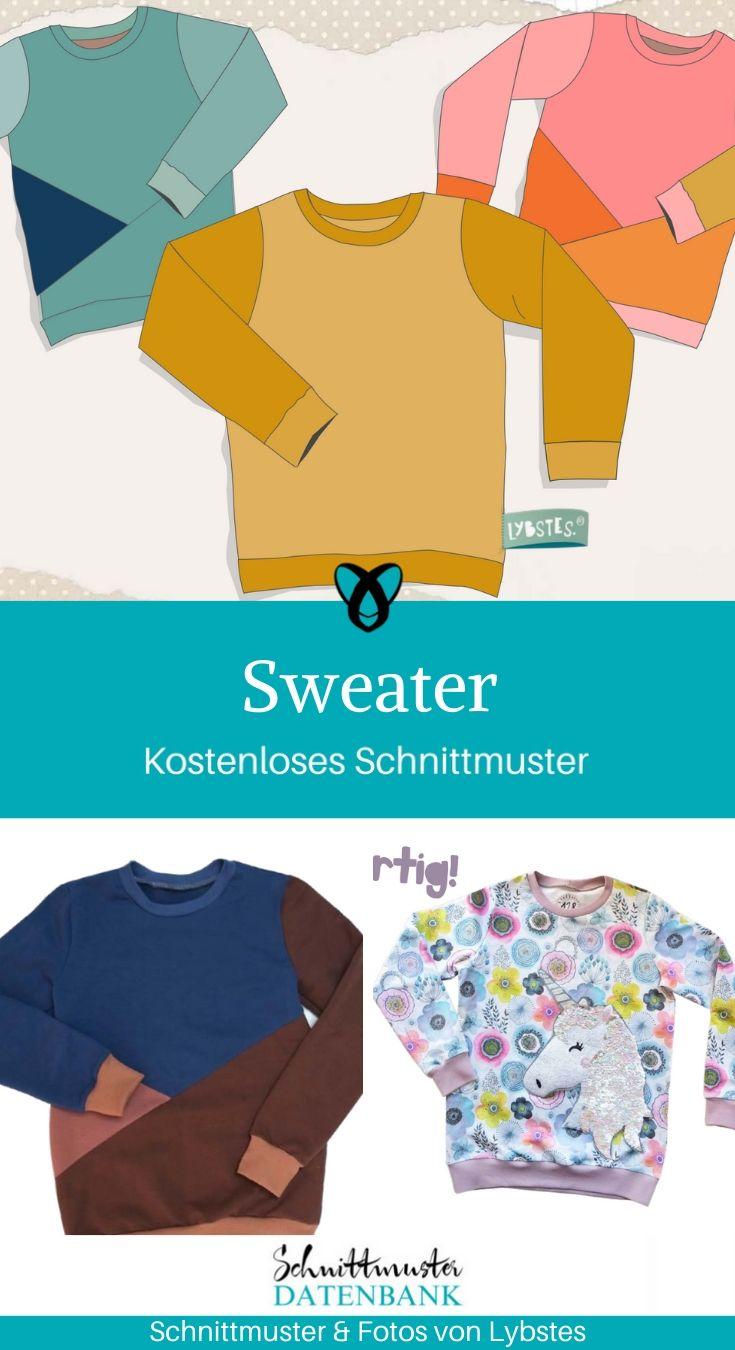 Kostenlose schnittmuster kinder pullover