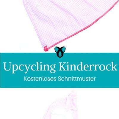 Upcycling Kinderrock aus Herrenhemd Mädchenrock kostenlose Schnittmuster Gratis-Nähanleitung