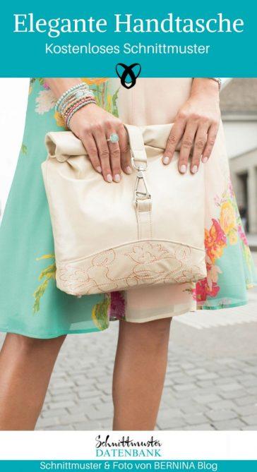 Elegante Handtasche Damentasche Clutch kostenlose Schnittmuster Gratis-Nähanleitung