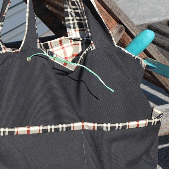 Gartentasche Wachstuchtasche Nähen für Zuhause für den Garten kostenlose Schnittmuster Gratis-Nähanleitung