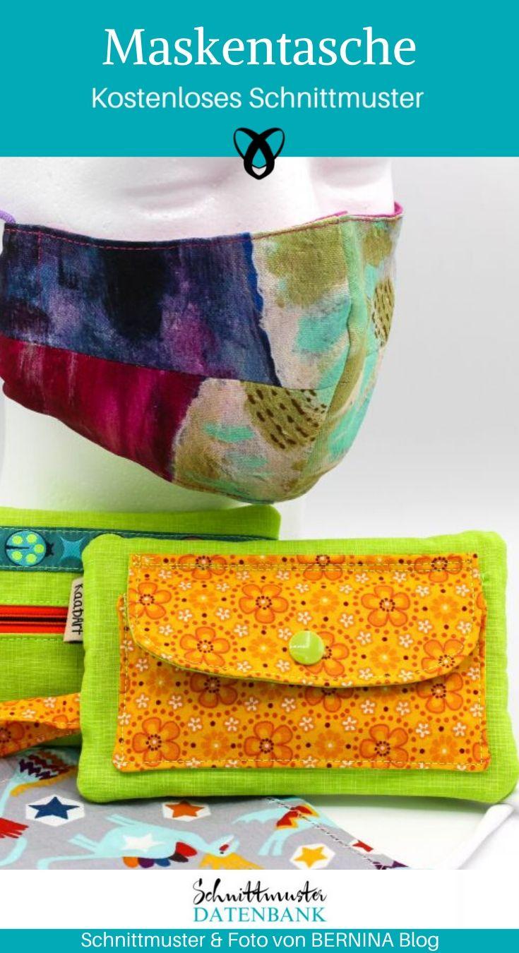 Maskentasche Tasche für Mundschutz Corona Covid kostenlose Schnittmuster Gratis-Nähanleitung