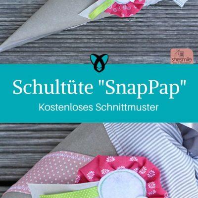 Schultüte Snap Papp Schulanfang EInschulung Nähen für Kinder Kostenlose Schnittmuster gratis-Nähanleitung