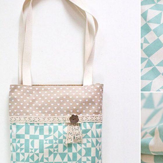 Sommertasche Emma Einkaufstasche Shopper Shoppingbag Beutel Stofftasche kostenlose Schnittmuster Gratis-Nähanleitung