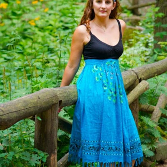 Upcycling Strandkleid Sommerkleid bequeme Sommermode kostenlose Schnittmuster Gratis-Nähanleitung
