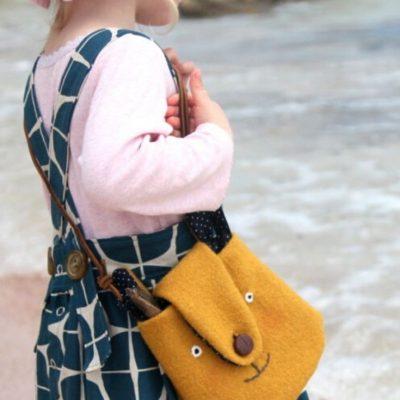 Bärentasche Kindertasche Walktasche Accessoires für Kinder kostenlose Schnittmuster Gratis-Nähanleitung