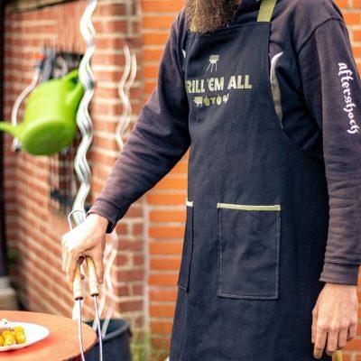 Grillschürze Schürze Geschenke für Männer Nähen für zuhause kostenlose Schnittmuster Gratis-Nähanleitung