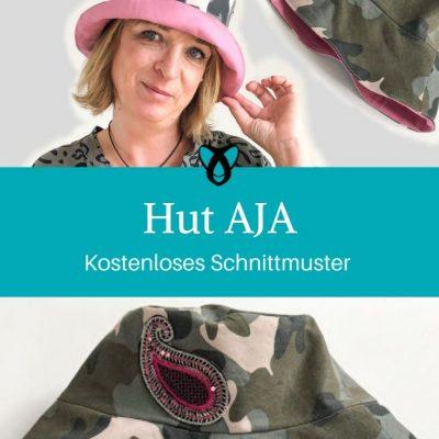 Hut AJA Sommerhut Anglerhut Erwachsene kostenlose Schnittmuster Gratis-Nähanleitung