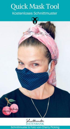 Quick Mask Tool Behelfsmaske Mundschutz Corona Covid Atemschutz Mund-Nasen-Maske kostenlose Schnittmuster Gratis-Nähanleitung