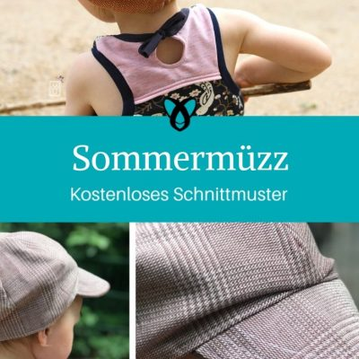 Sommermüzz Schirmmütze für Kinder Sommermütze Nähen für Kinder Sonnenschutz kostenlose Schnittmuster Gratis-Nähanleitung
