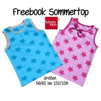 Sommertop Kinder Tanktop Oberteil Jerseyshirt ohne Ärmel kostenlose Schnittmuster Gratis-Nähanleitung