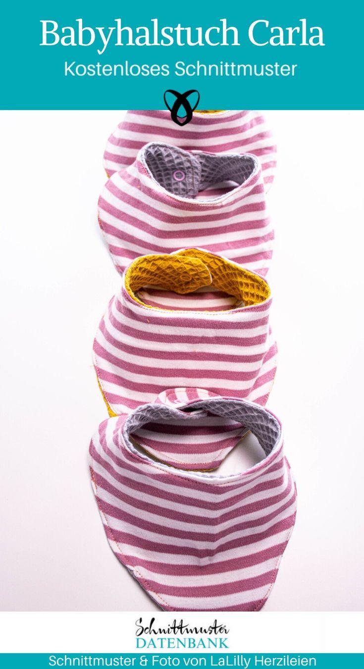 Babyhalstuch Carla Dreieckstuch Accessoires Baby kostenlose Schnittmuster Gratis-Nähanleitung Erstausstattung