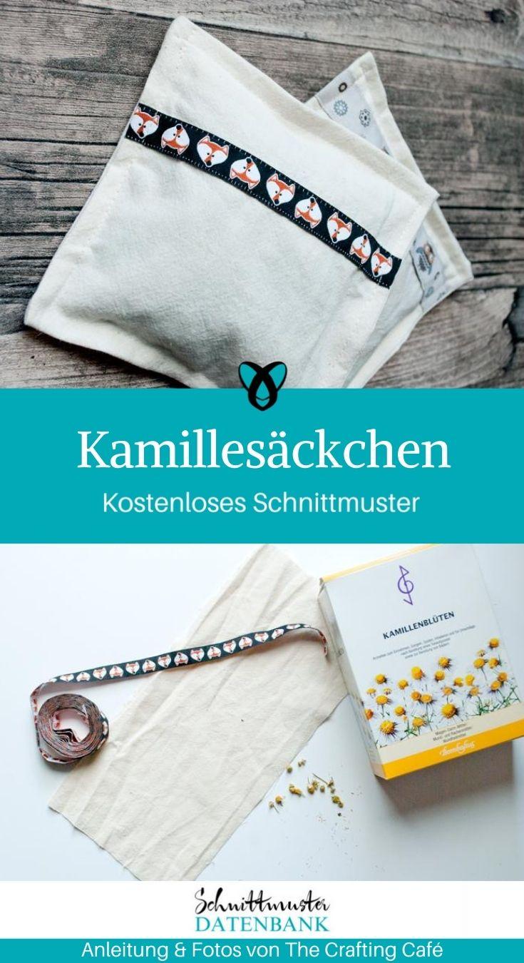 Kamillesäckchen Entspannung kleine Geschenke für Zuhause kostenlose Schnittmuster Gratis-Nähanleitung