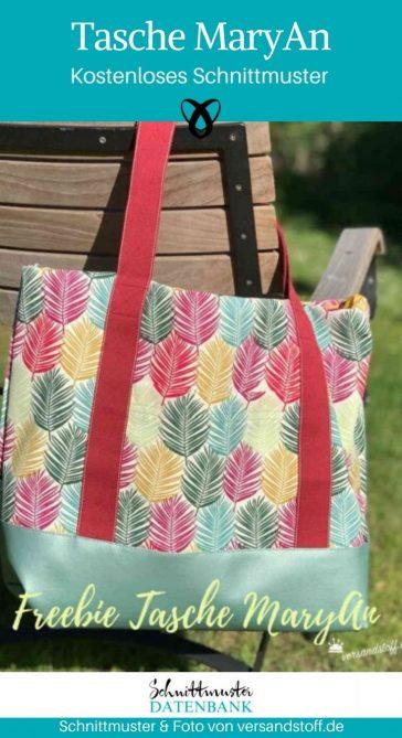 Tasche MaryAn Badetasche Shopper kleine Reisetasche Handtasche kostenlose Schnittmuster Gratis-Nähanleitung