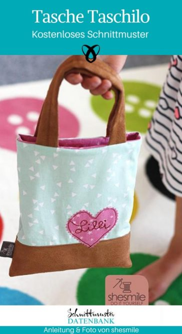 Tasche Taschilo Kindertasche Stoffbeutel Kinder kostenlose Schnittmuster Gratis-Nähanleitung