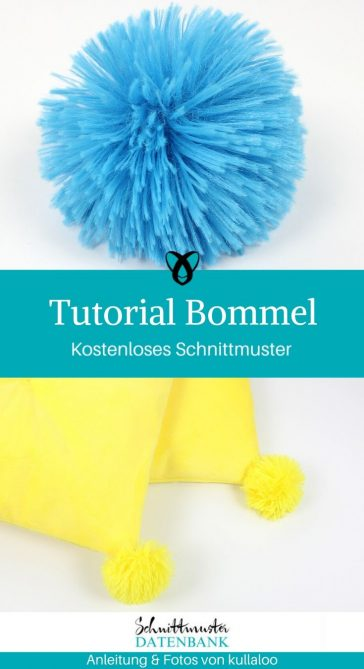 Tutorial Bommel kostenlose Schnittmuster Gratis-Nähanleitung