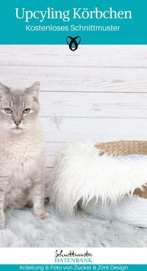 Upcycling Katzenkörbchen Hundekörbchen Nähen für den Hund Katze Haustier Ikea-Hack kostenlose Schnittmustr Gratis-Nähanleitung