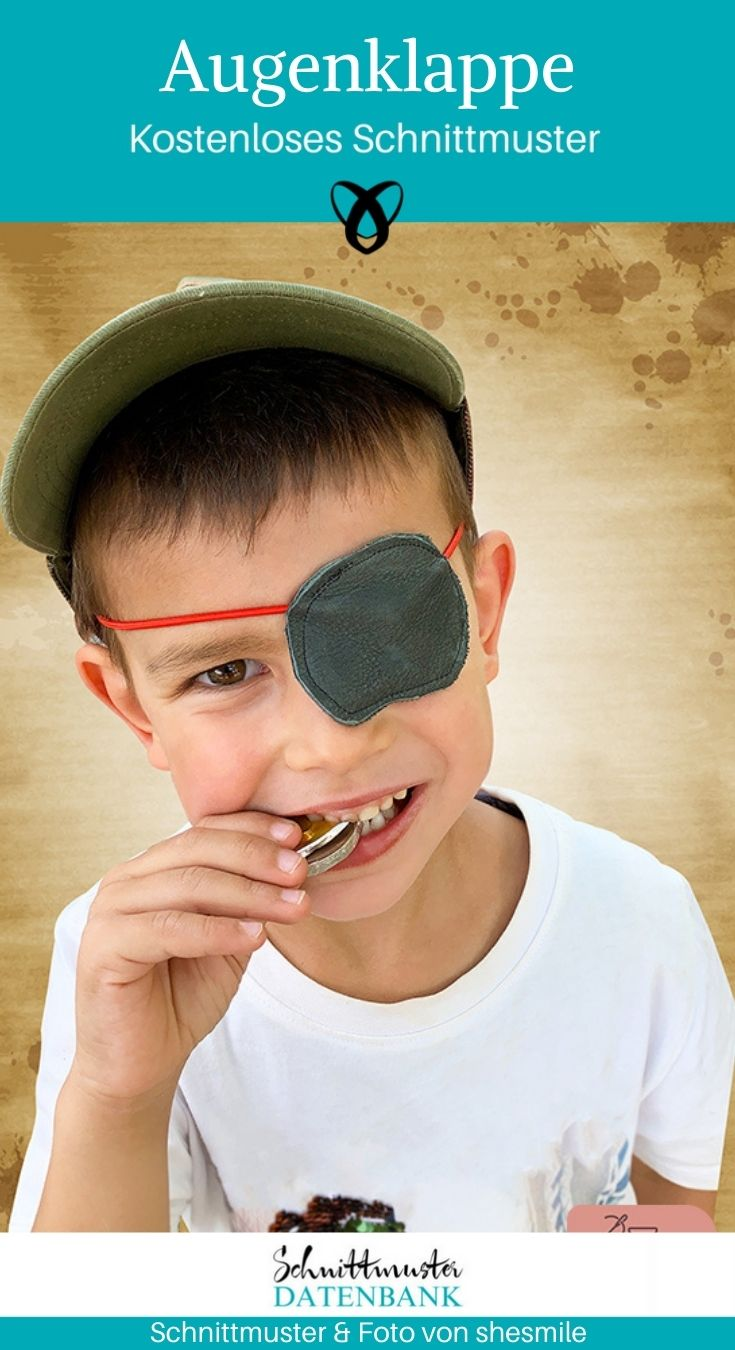 Augenklappe Verkleiden Verkleidung Pirat Kinderkleidung Spielsachen kostenlose Schnittmuster Gratis-Nähanleitung