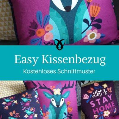 Easy Kissenbezug mit Paspel Hotelverschluss Nähen für Anfänger kostenlose Schnittmuster Gratis-Nähanleitung