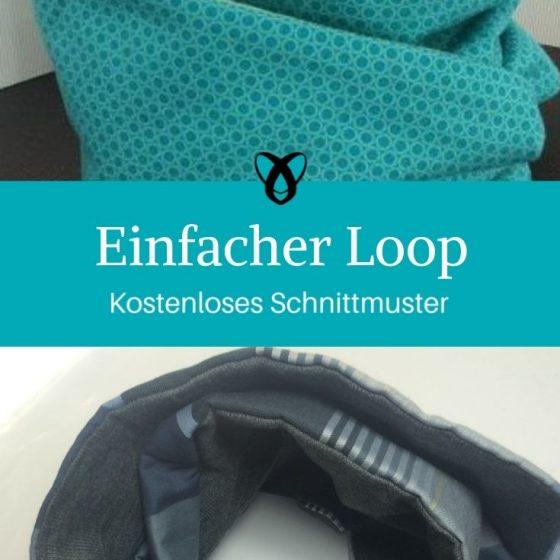 Einfacher Loop Loopschal Accessoire kostenlose Schnittmuster Gratis-Nähanleitung