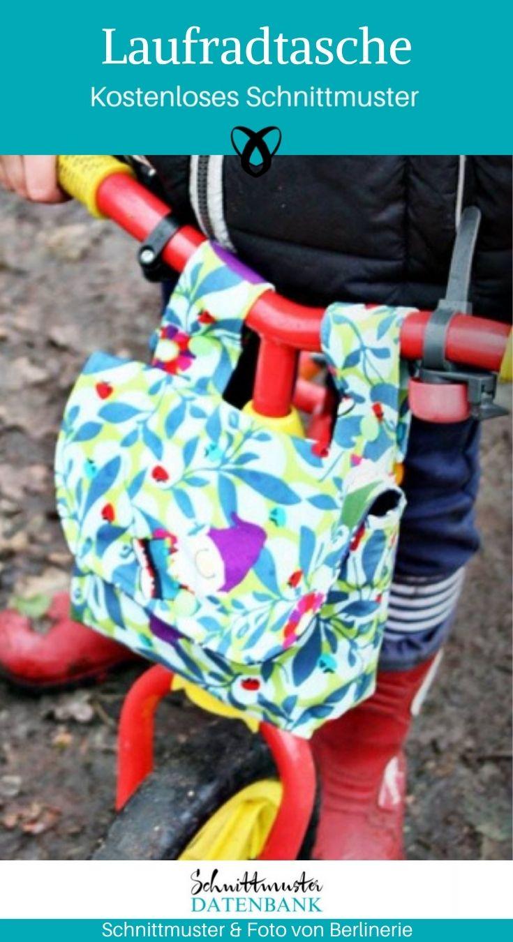 Laufradtasche Tasche Laufrad Nähen für Kinder kostenlose Schnittmuster Gratis-Nähanleitung