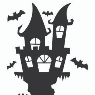 Plotter-Freebie Spukschloss Halloween Fledermäuse Gruseln kostenlose Schnittmuster Gratis-Nähanleitung