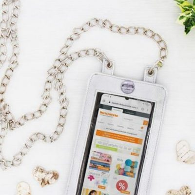 Smartphonetasche Handtasche Umhängeetui Handy kostenlose Schnittmuster gratis-Nähanleitung