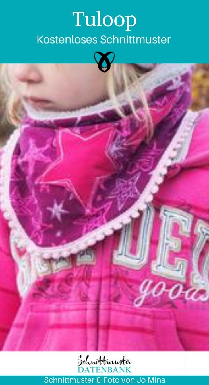 Tuloop Kinderschal Kinderloop Accessoires Kinder kostenlose Schnittmuster Gratis-Nähanleitung