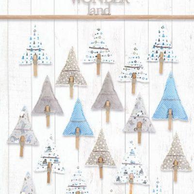 Adventskalender Bäumchen Tannenbaum Bäumchenkalender Advent Weihnachten kostenlose Schnittmuster Gratis-Nähanleitung