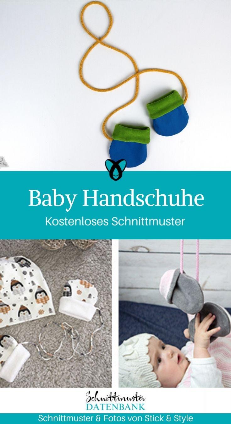 Baby Handschuhe Erstausstattung Winterbaby kostenlose Schnittmuster Gratis-Nähanleitung
