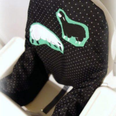 Bezug Hochstuhlkissen Antilop Ikea Hochstuhl für Babies kostenlose Schnittmuster Gratis-Nähanleitung