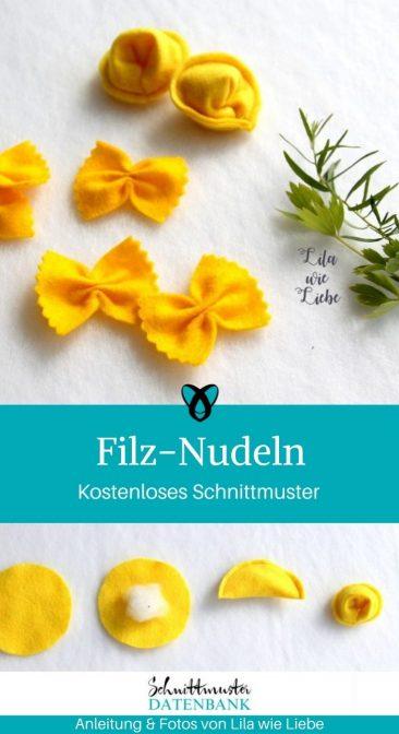 Filz-Nudeln Kaufladen Für Kinder Kinderküche Spielzeug Weihnachten kostenlose Schnittmuster Gratis-Nähanleitung