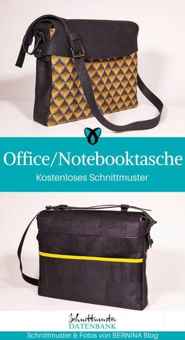 Officetasche Notebooktasche Laptoptasche Messengerbag für Männer kostenlose Schnittmuster Gratis-Nähanleitung