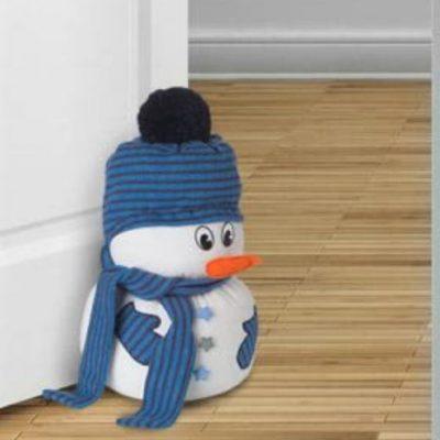 Schneemanntürstopper Weihnachtsdeko Winterdeko Türstopper Nähen für Zuhause kostenlose Schnittmuster Gratis-Nähanleitung