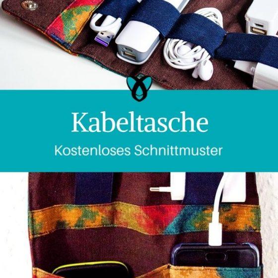 Kabeltasche Etui fuer Kabel Tasche kostenlose Schnittmuster Gratis-Naehanleitung