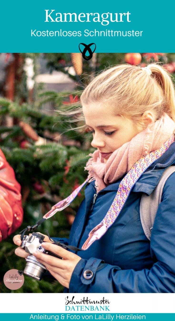 Kameragurt Tragegurt Kamera kostenlose Schnittmuster Gratis-Nähanleitung