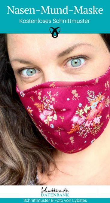 Nasen-Mund-Maske Corona Mundschutz selber nähen kostenlose Schnittmuster Gratis-Nähanleitung