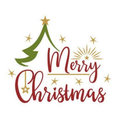 Plotter-Freebie Merry Christmas Frohe Weihnachten Dekoration kostenlose Schnittmuster Gratis-Nähanleitung