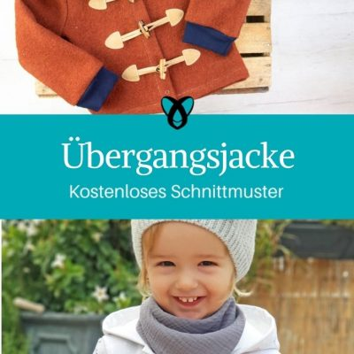 Übergangsjacke Kapuzenjacke für Kinder Babies kostenlose Schnittmuster Gratis-Nähanleitung