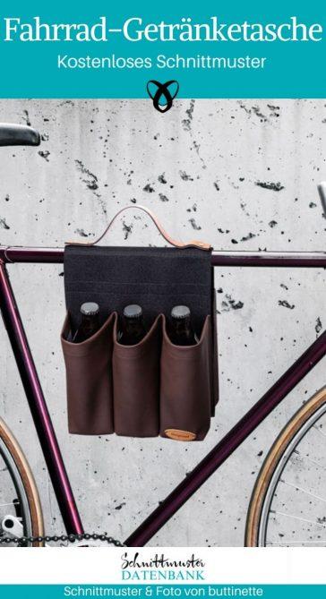 Fahrrad-Getränketasche kostenlose Schnittmuster Gratis-Nähanleitung Nähen fürs Fahrrad praktisches Draussen