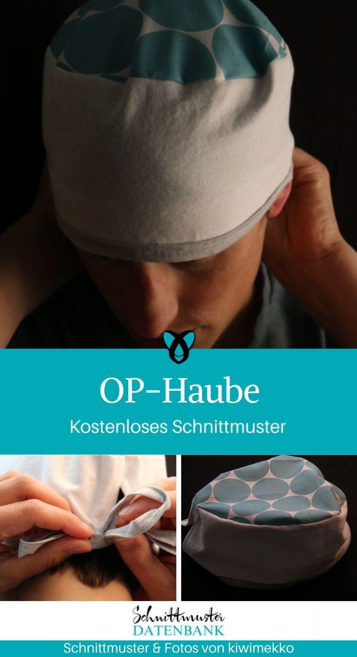 OP-Haube Krankenhaus Krankenschwester Arzt kostenlose Schnittmuster Gratis-Naehanleitung