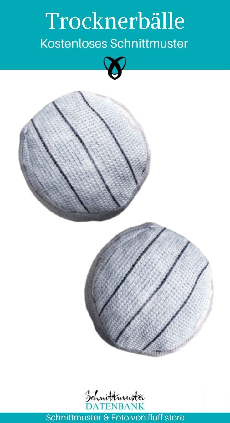 Trocknerbälle Nähen für den Haushalt Reste Wollreste kostenlose Schnittmuster Gratis-Nähanleitung